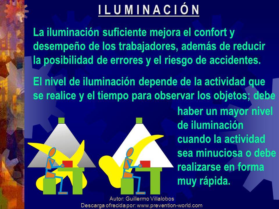Autor: Guillermo Villalobos Descarga ofrecida por: www.prevention-world.com I L U M I N A C I Ó N La iluminación suficiente mejora el confort y desemp