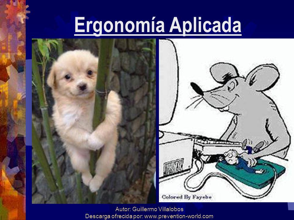 Autor: Guillermo Villalobos Descarga ofrecida por: www.prevention-world.com Ergonomía Aplicada