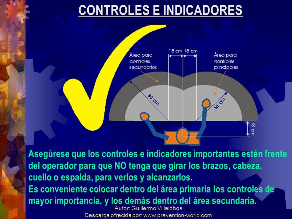 Autor: Guillermo Villalobos Descarga ofrecida por: www.prevention-world.com CONTROLES E INDICADORES Asegúrese que los controles e indicadores importan