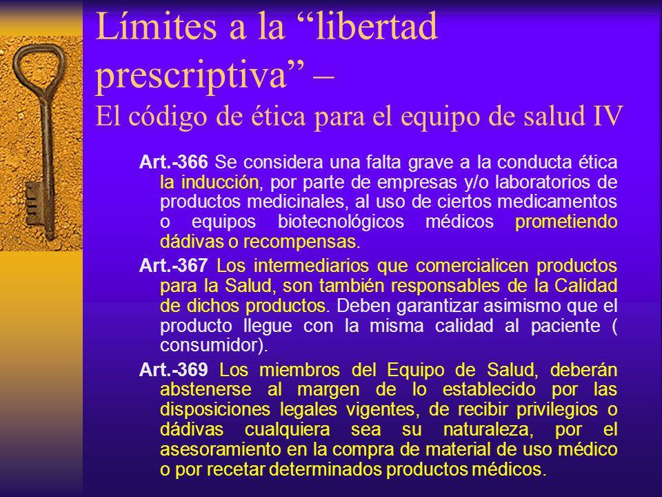 Art.-366 Se considera una falta grave a la conducta ética la inducción, por parte de empresas y/o laboratorios de productos medicinales, al uso de cie