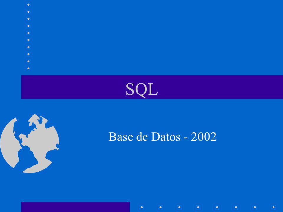 SQL Base de Datos - 2002