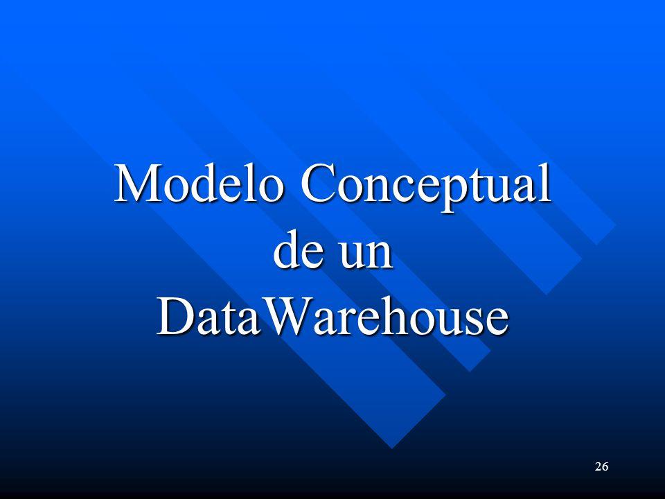 26 Modelo Conceptual de un DataWarehouse