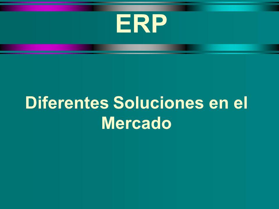 ERP Diferentes Soluciones en el Mercado