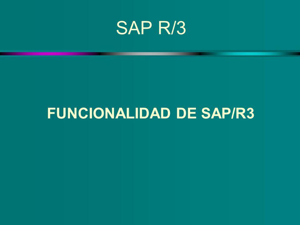 SAP R/3 FUNCIONALIDAD DE SAP/R3