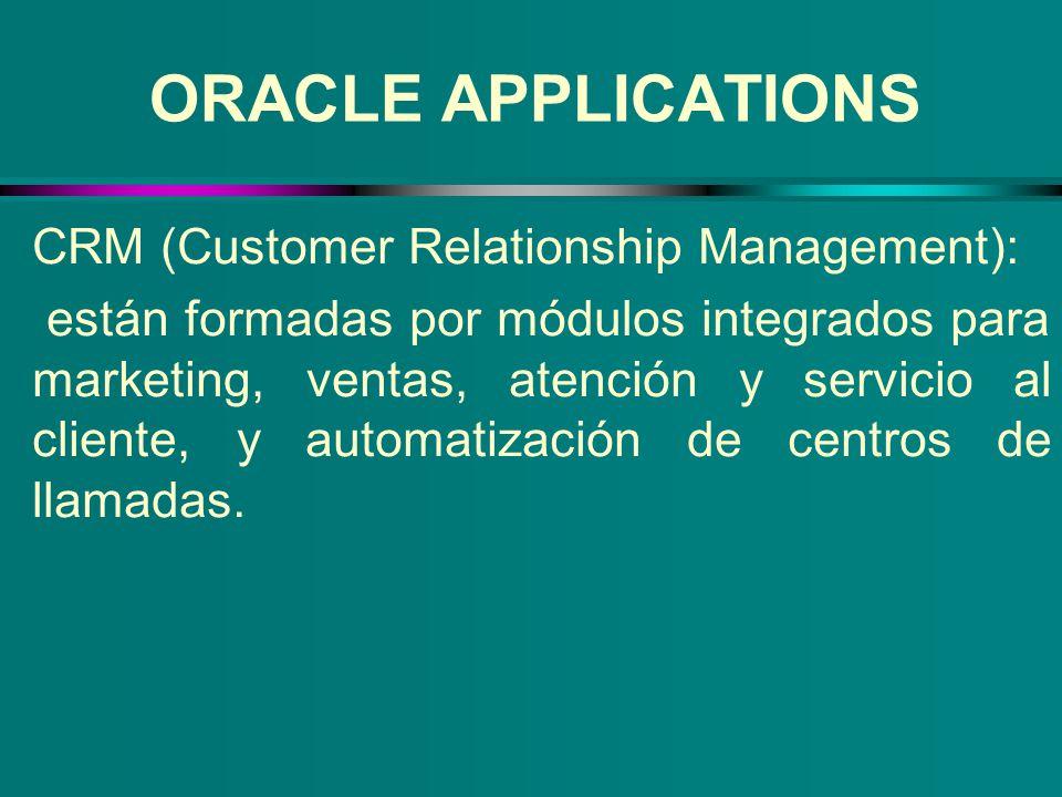 CRM (Customer Relationship Management): están formadas por módulos integrados para marketing, ventas, atención y servicio al cliente, y automatización