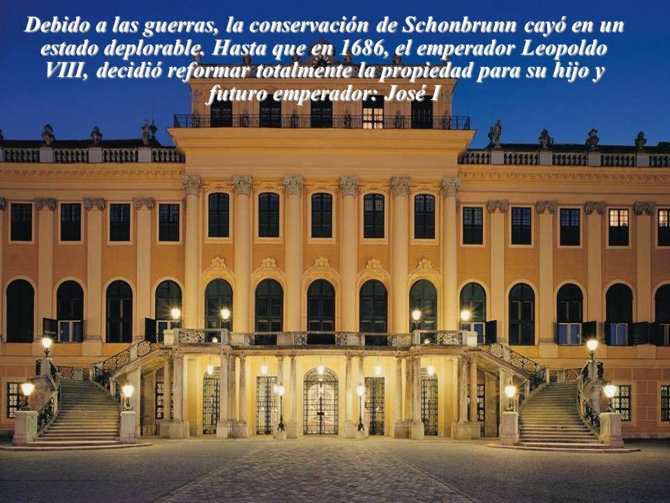 Debido a las guerras, la conservación de Schonbrunn cayó en un estado deplorable.