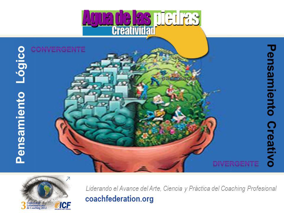 Liderando el Avance del Arte, Ciencia y Práctica del Coaching Profesional para coaches Pensamiento Lógico Pensamiento Creativo