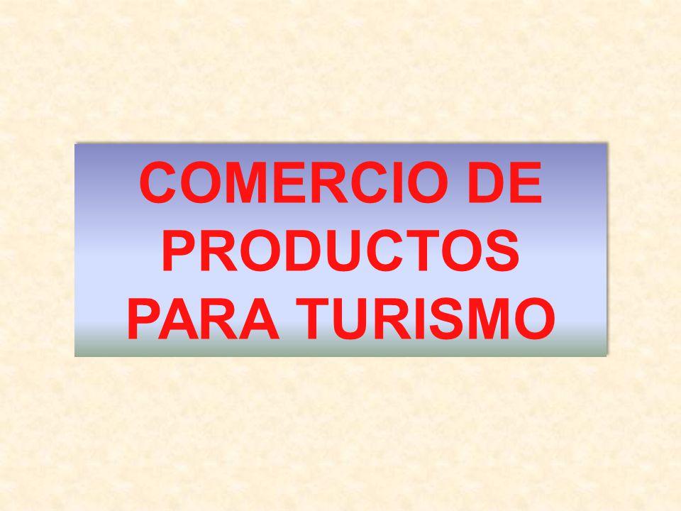 Explicar el lugar y papel del Comercio de productos para el turismo y conocer las funciones de los canales de distribución de productos para el aprovisionamiento material del sector.