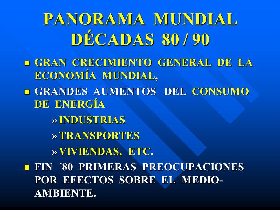 PANORAMA MUNDIAL DÉCADAS 80 / 90 GRAN CRECIMIENTO GENERAL DE LA ECONOMÍA MUNDIAL, GRAN CRECIMIENTO GENERAL DE LA ECONOMÍA MUNDIAL, GRANDES AUMENTOS DE