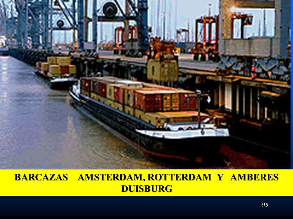 95 BARCAZAS AMSTERDAM, ROTTERDAM Y AMBERES DUISBURG