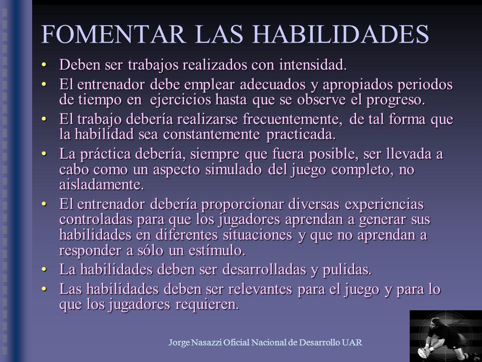 Jorge Nasazzi Oficial Nacional de Desarrollo UAR RECORDAR...