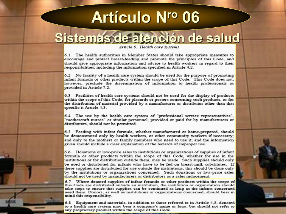 Artículo N ro 06 Sistemas de atención de salud