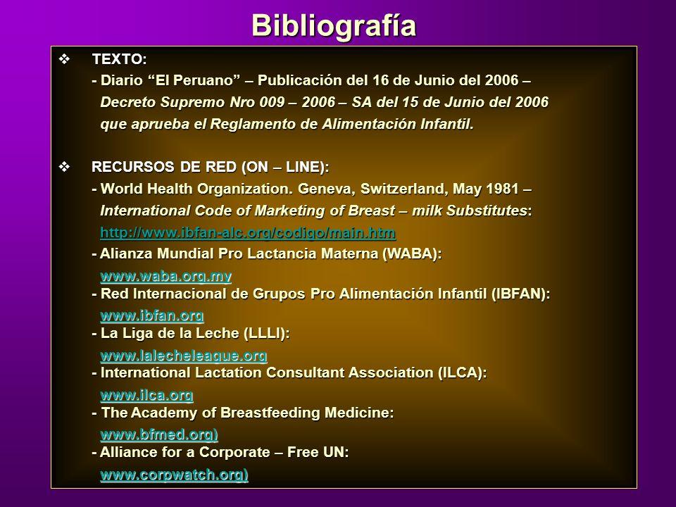 TEXTO: TEXTO: - Diario El Peruano – Publicación del 16 de Junio del 2006 – Decreto Supremo Nro 009 – 2006 – SA del 15 de Junio del 2006 Decreto Suprem