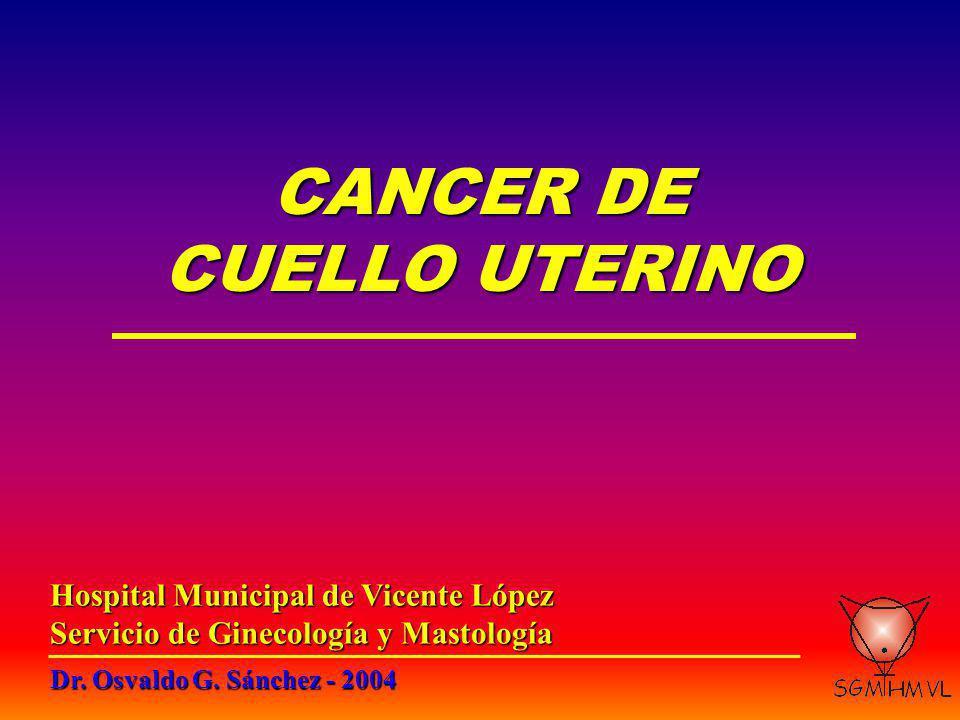 Ca.de Cuello Uterino ESTADIFICACION CLINICA Estudios complementarios: 2- Sofisticados.