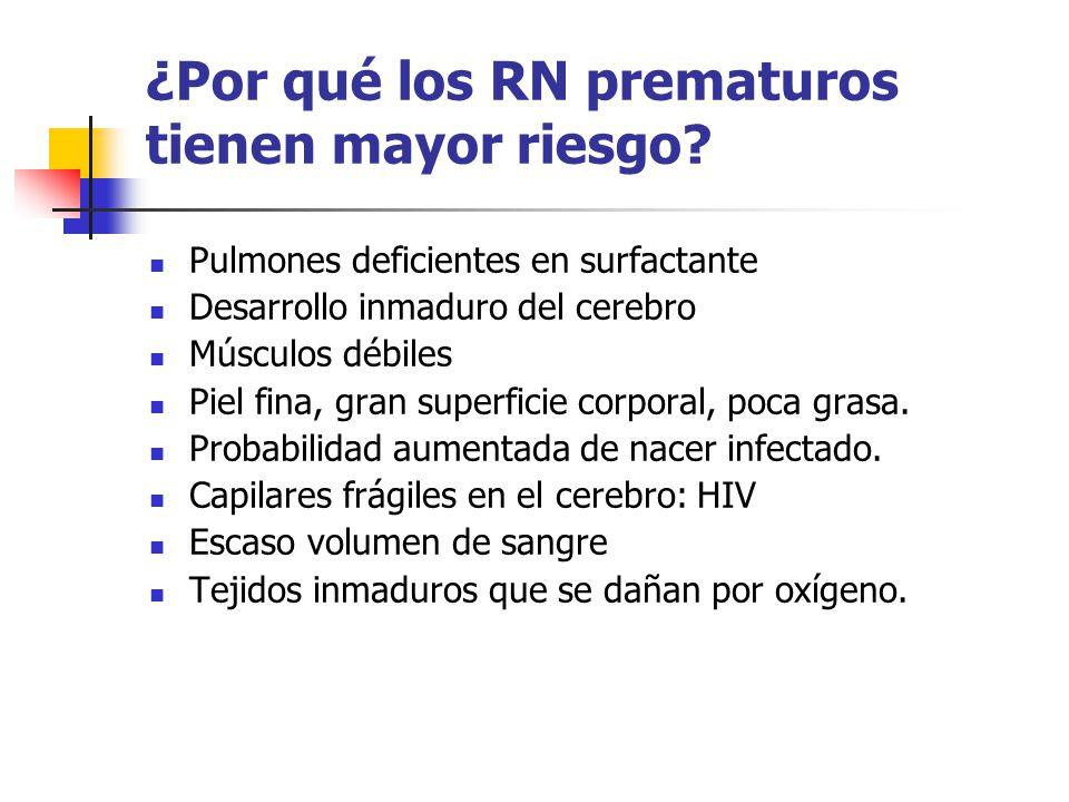 ¿Por qué los RN prematuros tienen mayor riesgo.