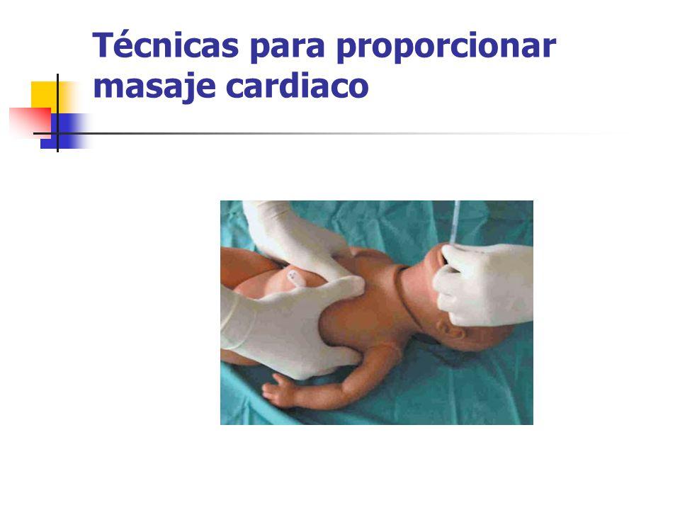 Técnicas para proporcionar masaje cardiaco