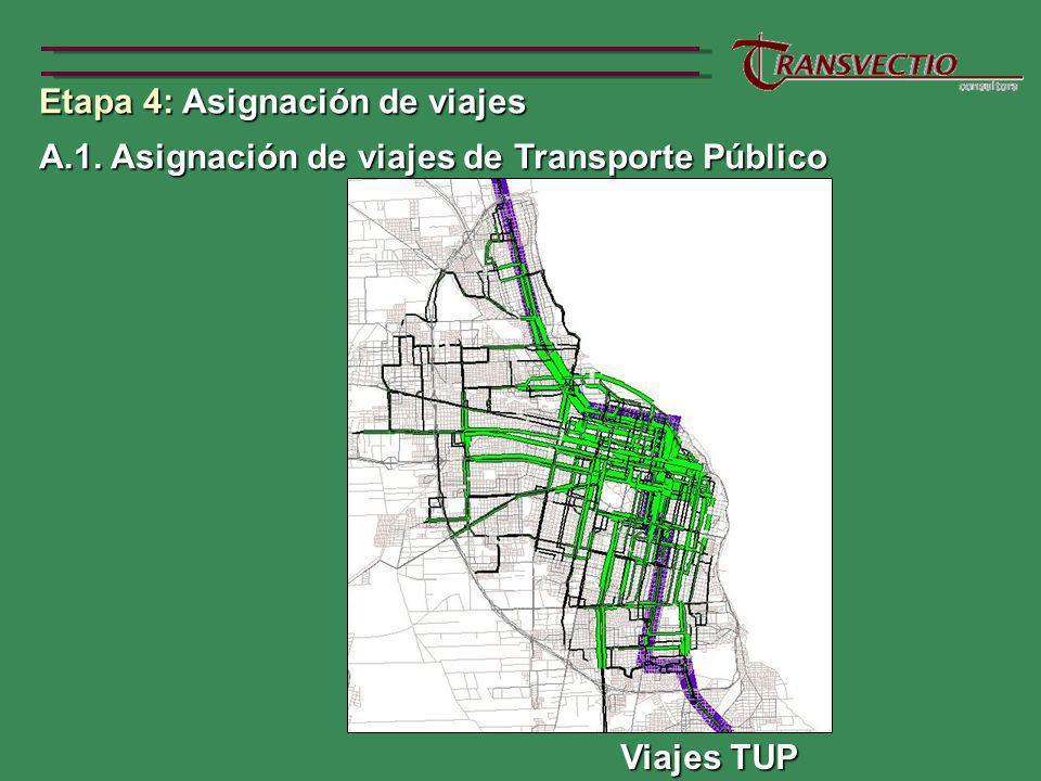 Etapa 4: Asignación de viajes A.1.Asignación de viajes de Transporte Público A.1.