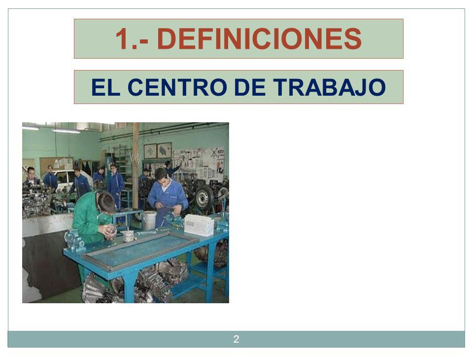 1.- DEFINICIONES EL CENTRO DE TRABAJO 2