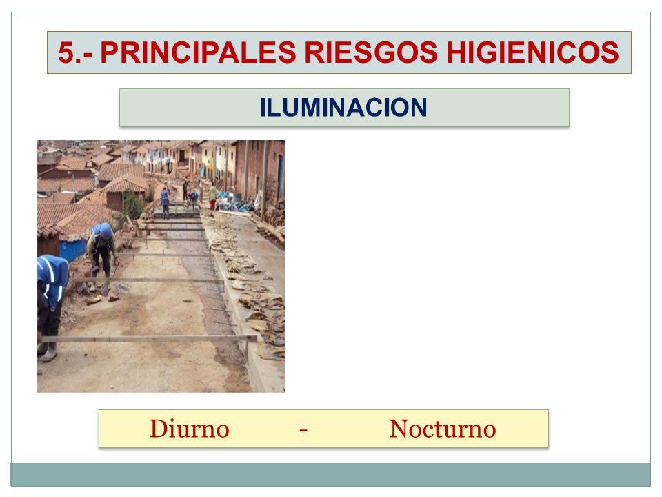 ILUMINACION Diurno - Nocturno 5.- PRINCIPALES RIESGOS HIGIENICOS