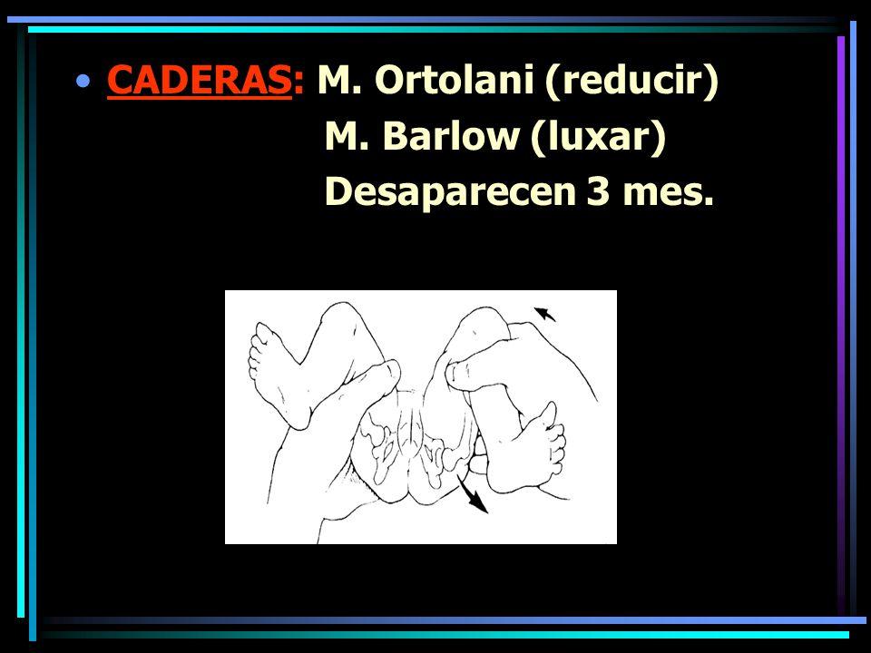 Escoliosis Trast. Posturales: Lordosis/cifosis Epifisiolisis (desplazamiento femur sobre cartilago)