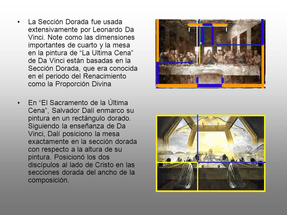 La Sección Dorada fue usada extensivamente por Leonardo Da Vinci.