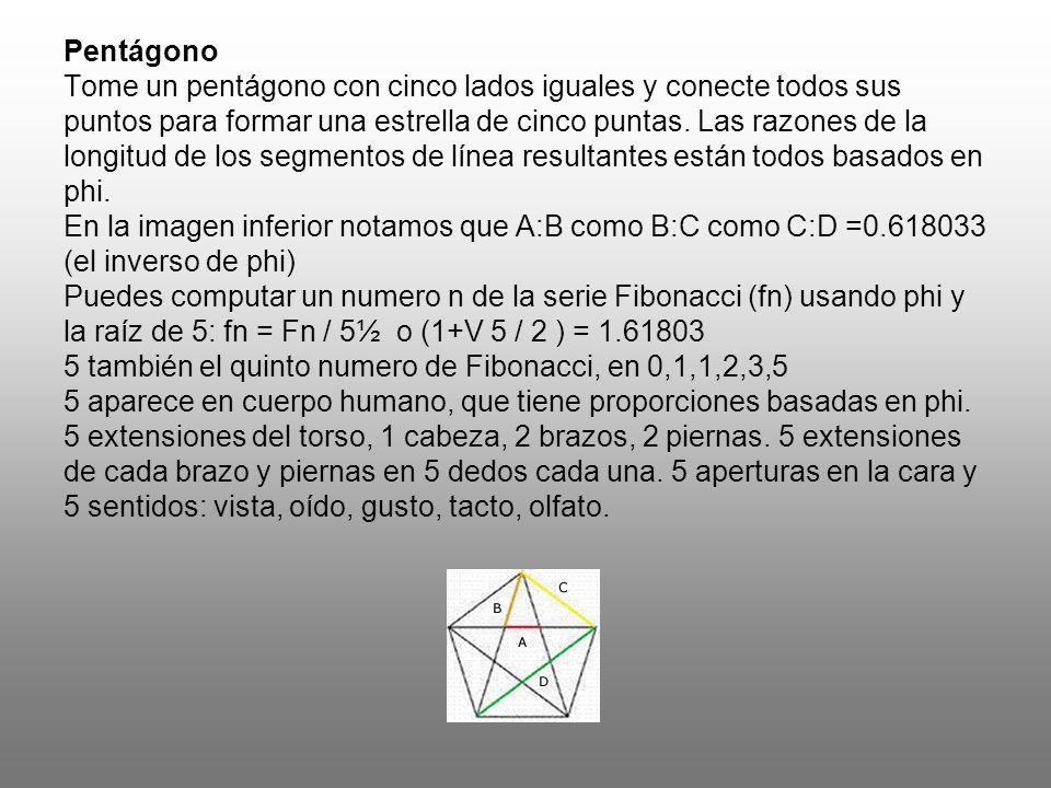 Pentágono Tome un pentágono con cinco lados iguales y conecte todos sus puntos para formar una estrella de cinco puntas.