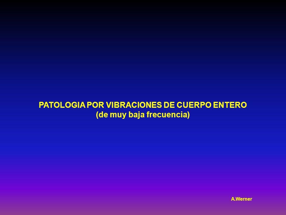 PATOLOGIA POR VIBRACIONES DE CUERPO ENTERO (de muy baja frecuencia) A.Werner