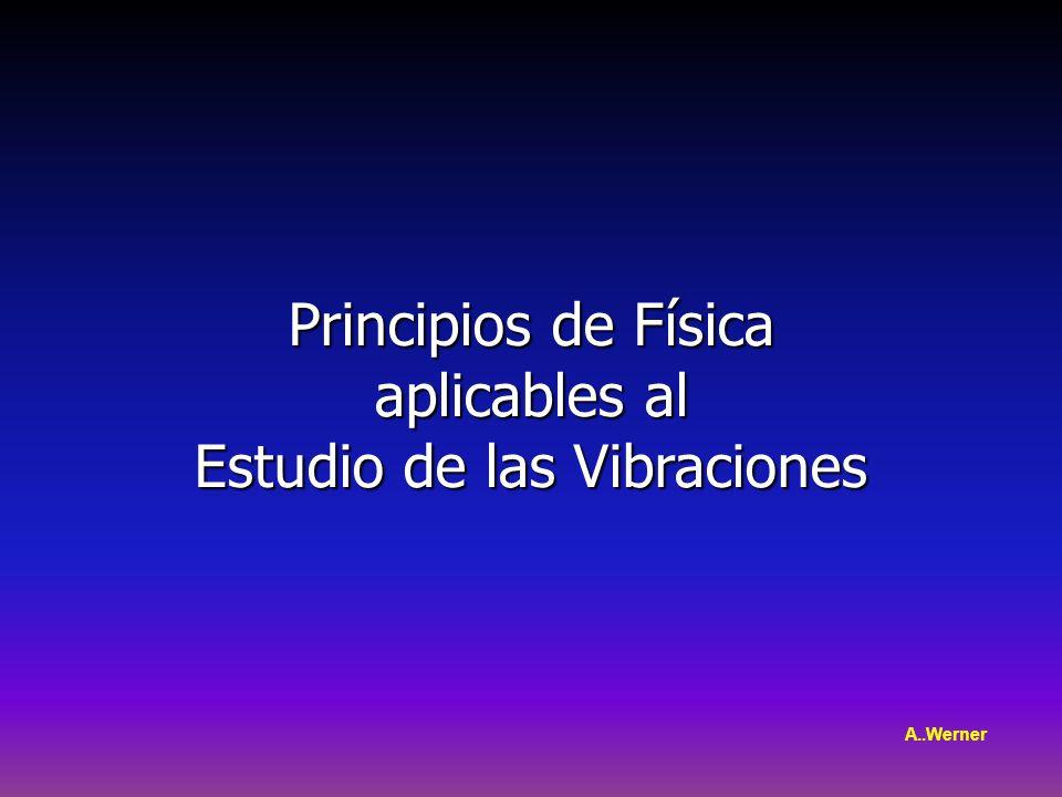 Principios de Física aplicables al aplicables al Estudio de las Vibraciones A..Werner