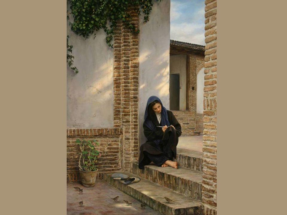 Sus pinturas muestran al mundo fuerte personalidad del pueblo iraní.
