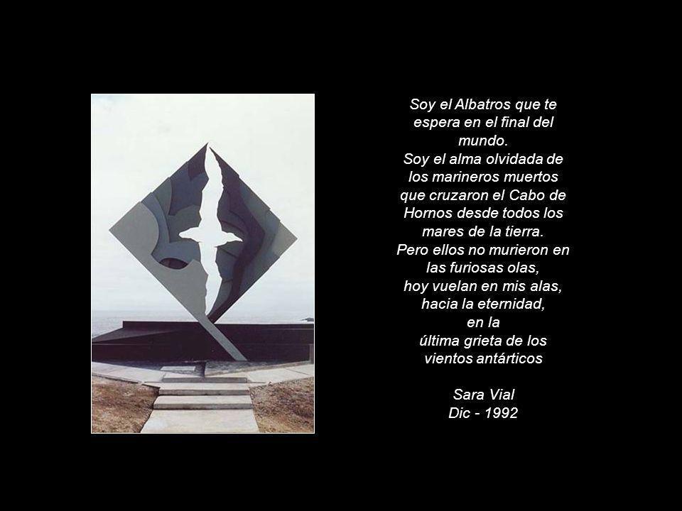 Soy el Albatros que te espera en el final del mundo. Soy el alma olvidada de los marineros muertos que cruzaron el Cabo de Hornos desde todos los mare