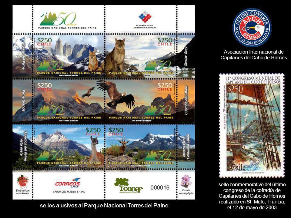 sello conmemorativo del último congreso de la cofradía de Capitanes del Cabo de Hornos realizado en St. Malo, Francia, el 12 de mayo de 2003 sellos al