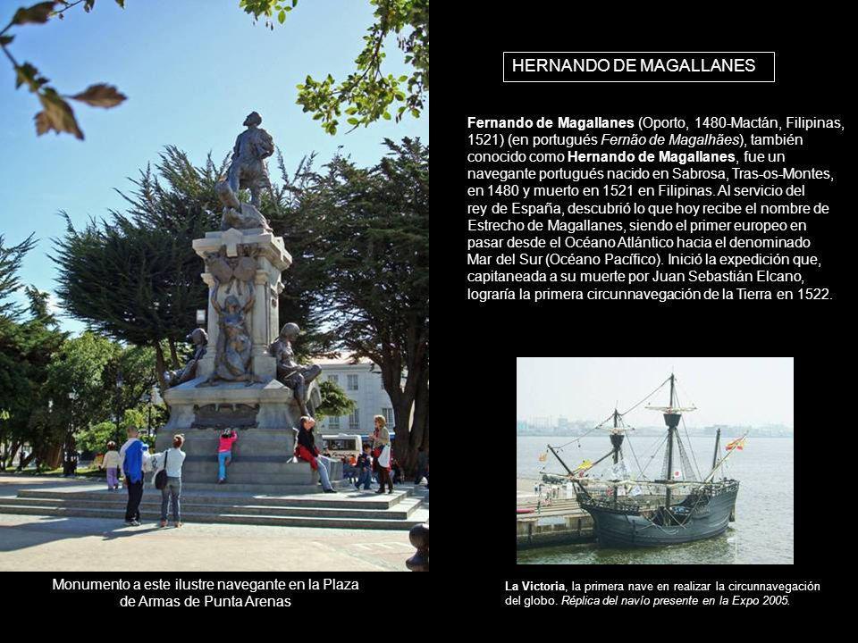 HERNANDO DE MAGALLANES Fernando de Magallanes (Oporto, 1480-Mactán, Filipinas, 1521) (en portugués Fernão de Magalhães), también conocido como Hernand