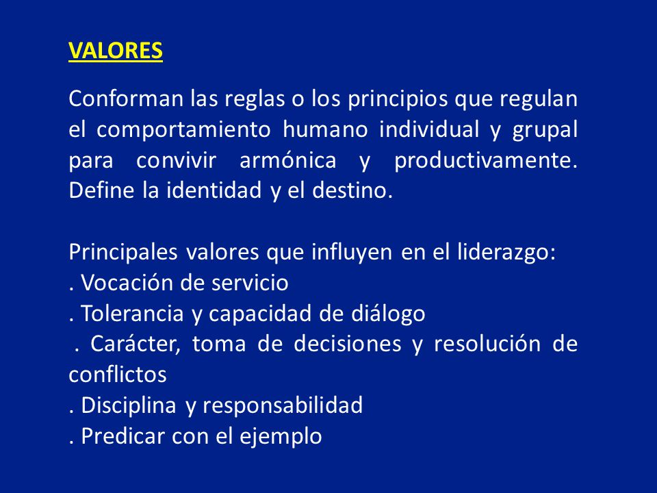Conforman las reglas o los principios que regulan el comportamiento humano individual y grupal para convivir armónica y productivamente. Define la ide