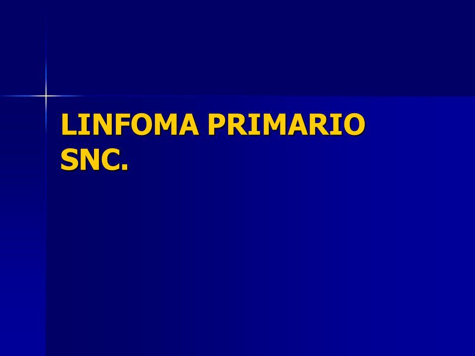 LINFOMA PRIMARIO SNC.