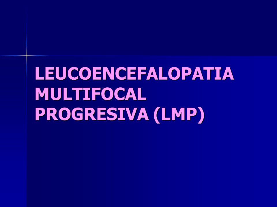 LEUCOENCEFALOPATIA MULTIFOCAL PROGRESIVA (LMP)