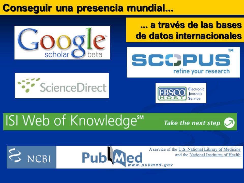 Conseguir una presencia mundial...... a través de las bases de datos internacionales