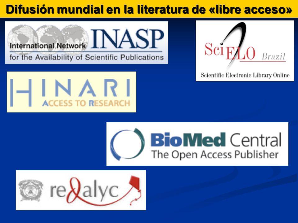 Difusión mundial en la literatura de «libre acceso»
