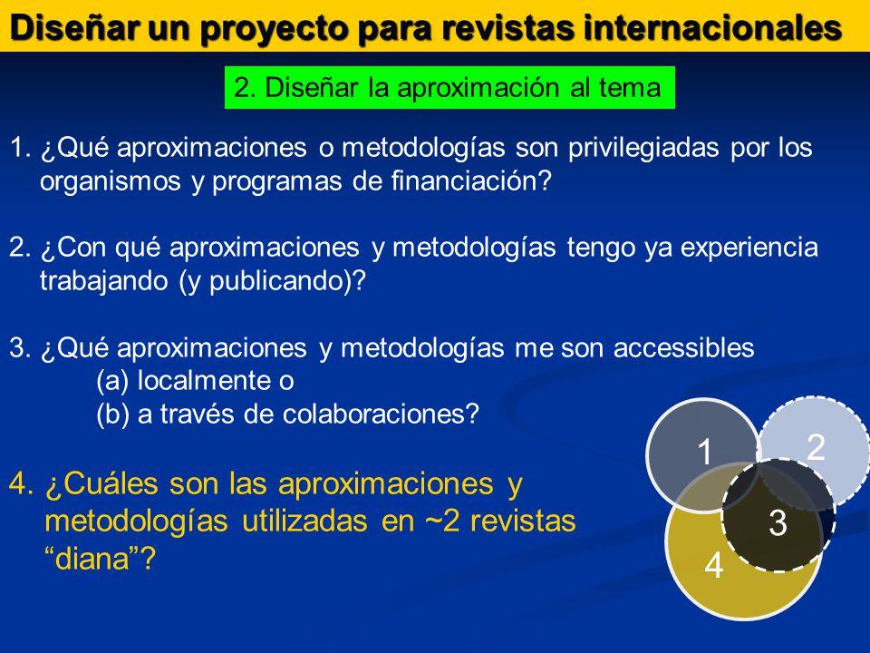Diseñar un proyecto para revistas internacionales 1.