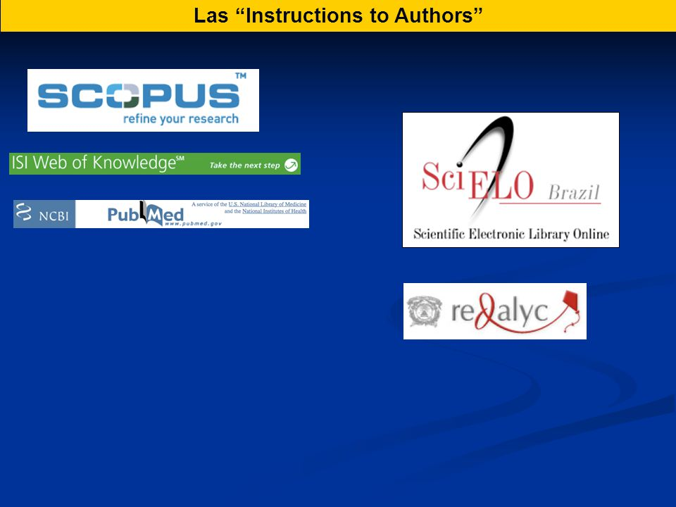 Las Instructions to Authors
