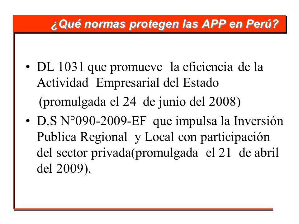 ¿Qué normas protegen las APP en Perú.