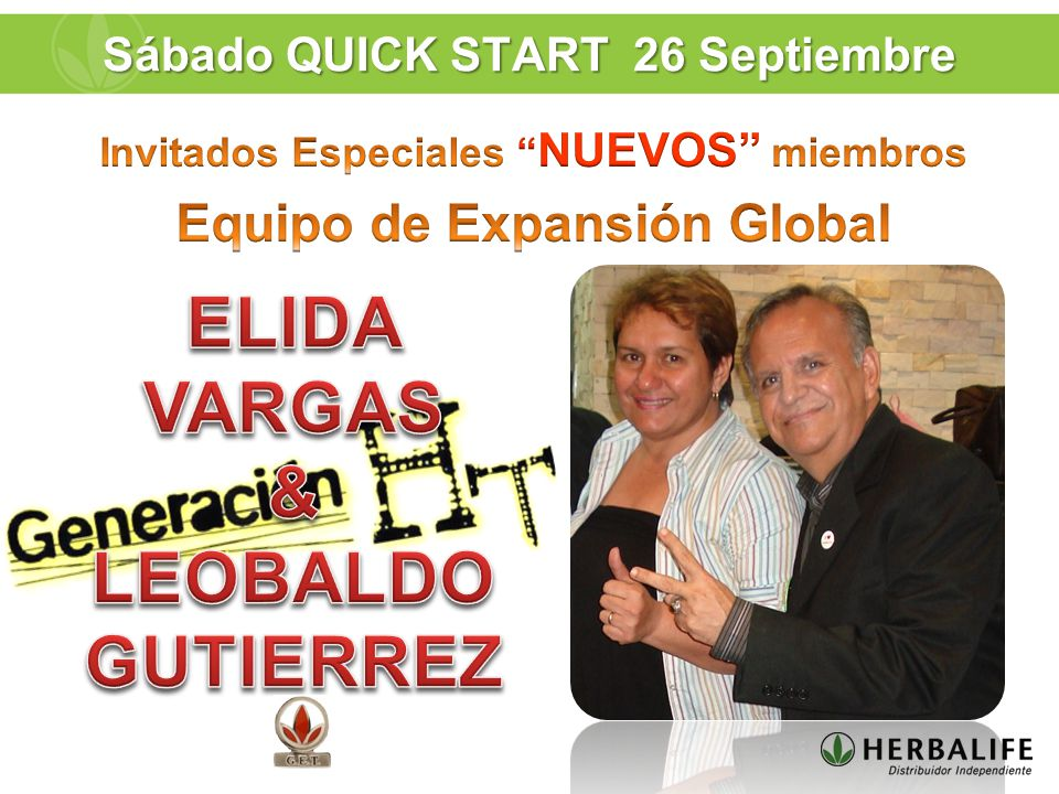 Sábado QUICK START 26 Septiembre