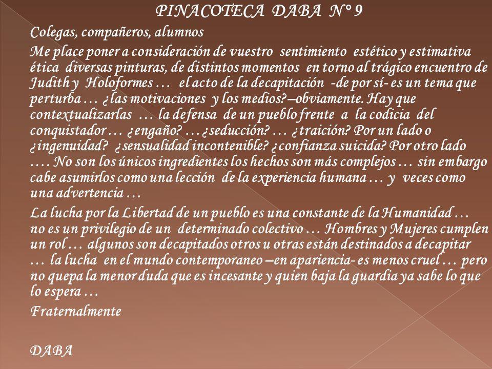Este trabajo de Botticelli está vinculado a Judith 13:09.