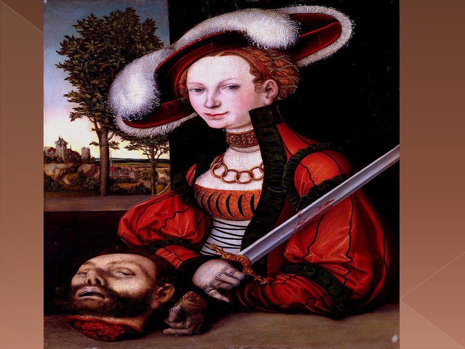 el siervo de Judith pone la cabeza del caudillo asirio Holofernes en su bolsa, de modo que pueden huir desde el campamento del ejército asirio ….Judith, espada en mano.