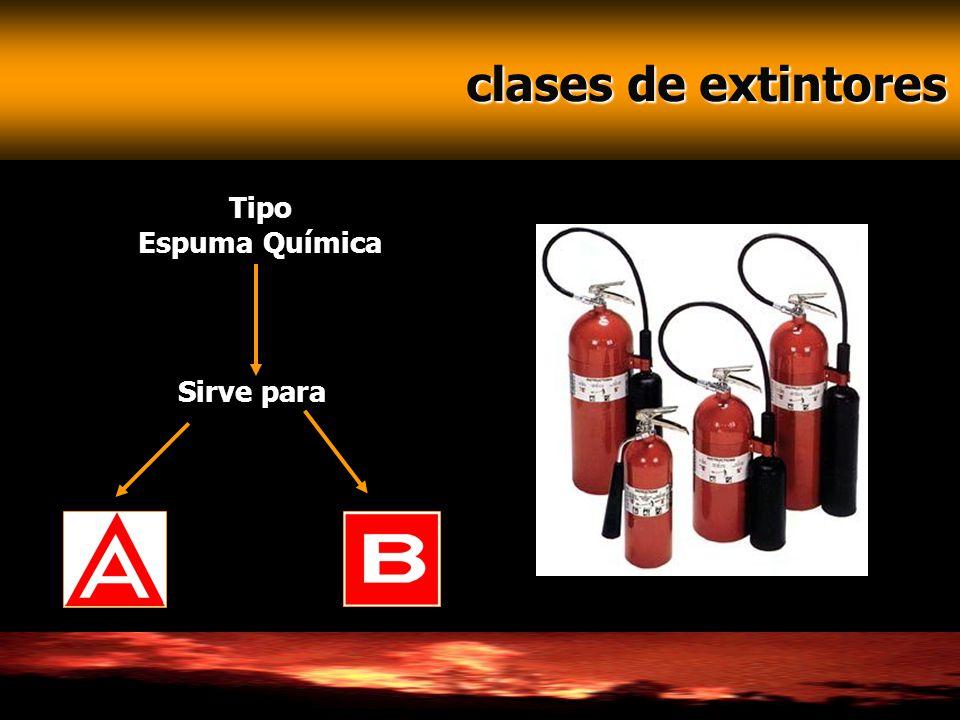 clases de extintores clases de extintores Tipo Espuma Química Sirve para