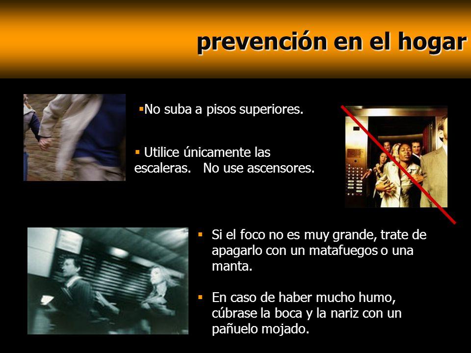 prevención en el hogar prevención en el hogar Si el foco no es muy grande, trate de apagarlo con un matafuegos o una manta. En caso de haber mucho hum