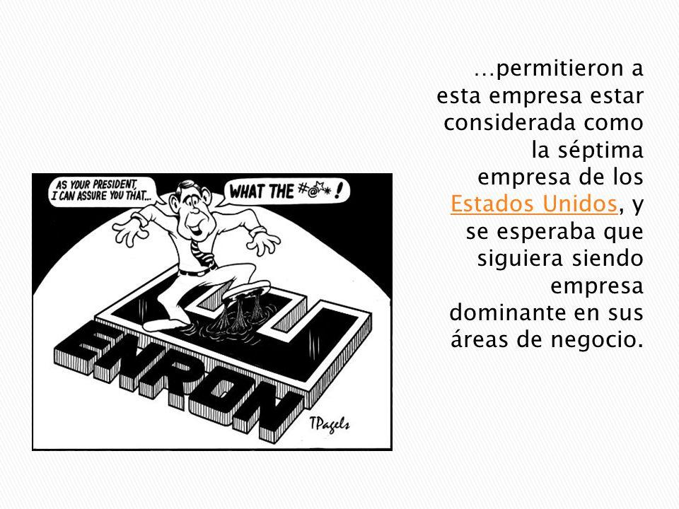 Enron Corporation fue una empresa de energía con sede en Houston, Texas que empleaba cerca de 21,000 personas hacia mediados de 2001 (antes de su quie