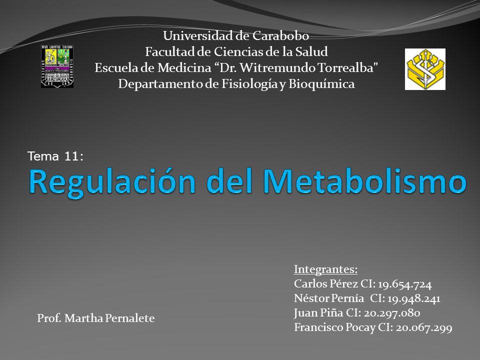 1.Nombrar los niveles de regulación del metabolismo.