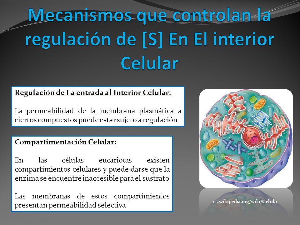 Regulación de La entrada al Interior Celular: La permeabilidad de la membrana plasmática a ciertos compuestos puede estar sujeto a regulación Comparti