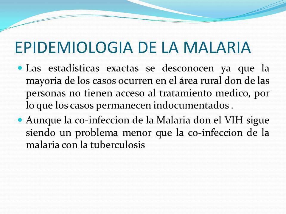 EPIDEMIOLOGIA DE LA MALARIA Causa unos 400 a 900 casos de fiebre aproximadamente unos dos a tres millones de muertes anuales. Esto representa una muer