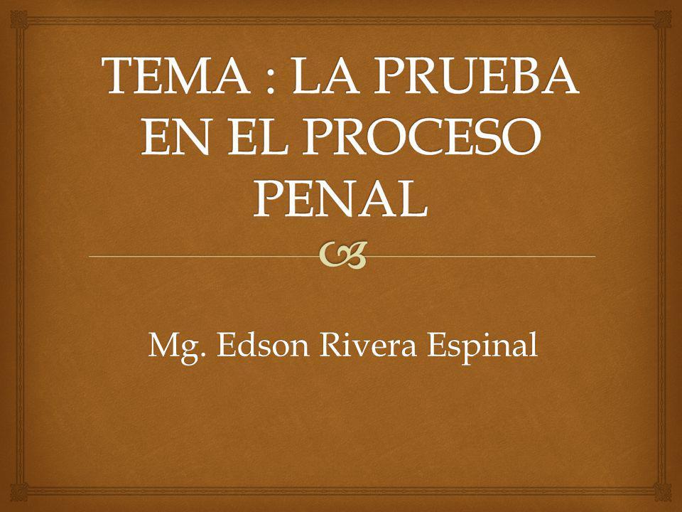 Mg. Edson Rivera Espinal